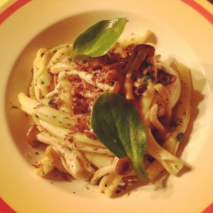 Handmade pasta with truffel