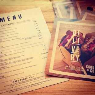 Menu and Delivery