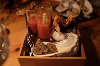 Baked Oysters and Bloody Mary