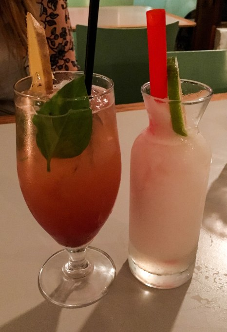 Strawberry mule and homemade lemonade