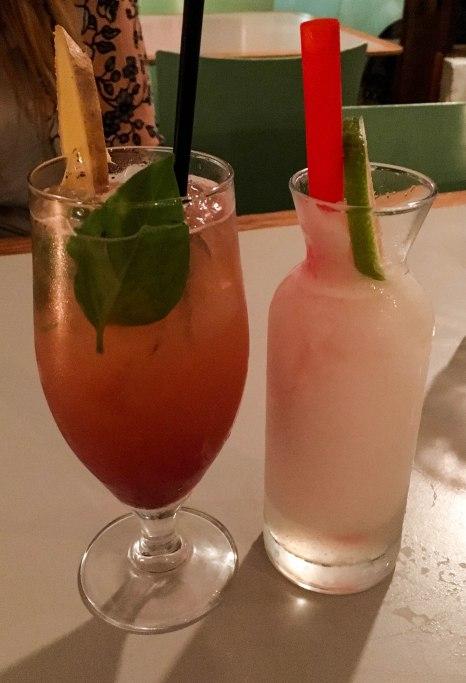 Strawberry mule and homemade lemonade